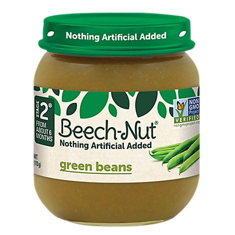 Beech-Nut Baby Food Stage 2 Green Beans - 4 Oz