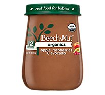 Beech Nut Organics Baby Food Stage 2 Apple Raspberries & Avocado - 4 Oz