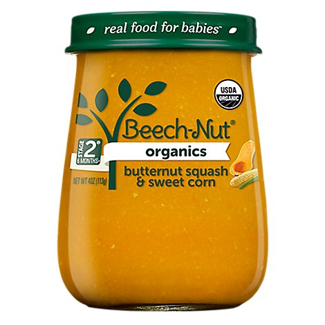Beech-Nut Organics Baby Food Stage 2 Butternut Squash And Sweet Corn - 4 Oz