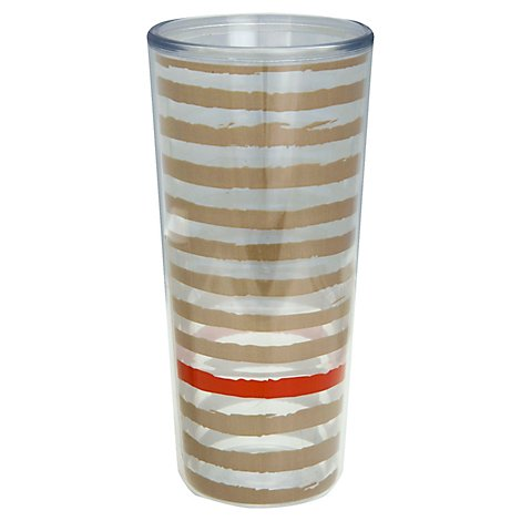 Thermoserv Putty Canyon Coral Stripes Tumbler 18oz - Each