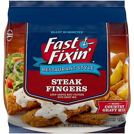Fast Fixin Restaurant Style Steak Fingers With Gravy - Each