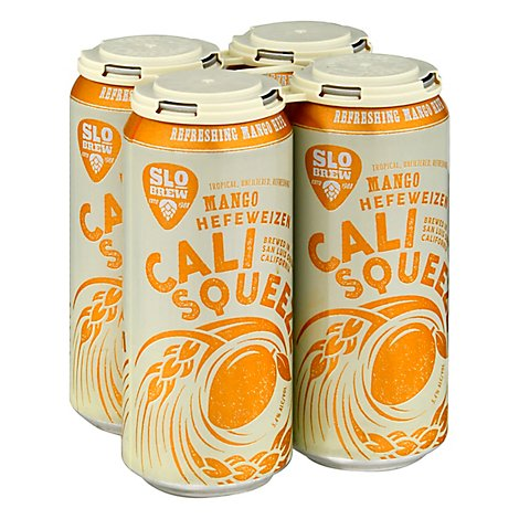 Slo Brew Mango Squeeze In Cans - 4-16 Fl. Oz.