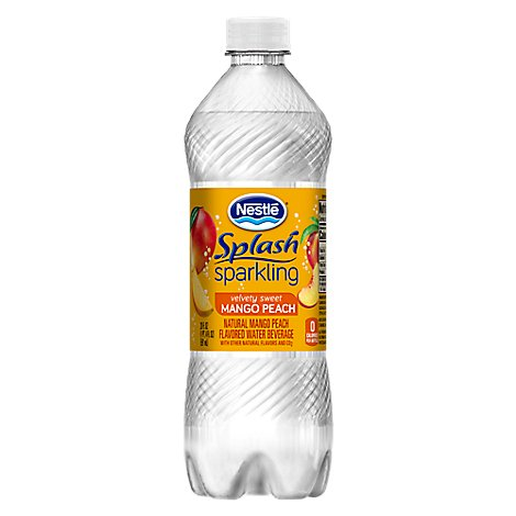 Nestle Splash Flavored Water Beverage Sparkling Mango Peach - 20 Fl. Oz.