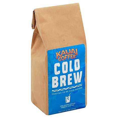 Kauai Coffee Cold Brew 10oz Grind - 10 Oz