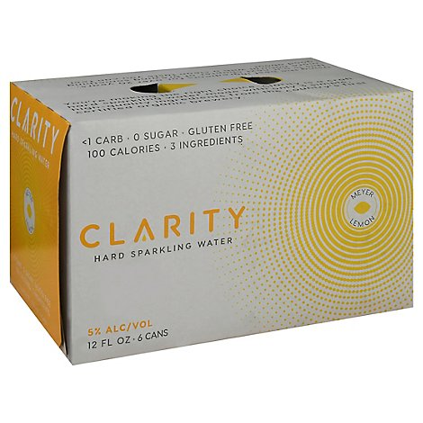 Craft Clarity Meyer Lemon Hard Seltzer In Cans - 6-12 Fl. Oz.