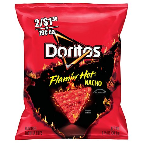 Doritos Flamin Hot Nacho Flavored Tortilla Chips - 1.375 Oz