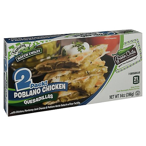 Green Chile Poblano Chicken Quesadillaz - 14 Oz