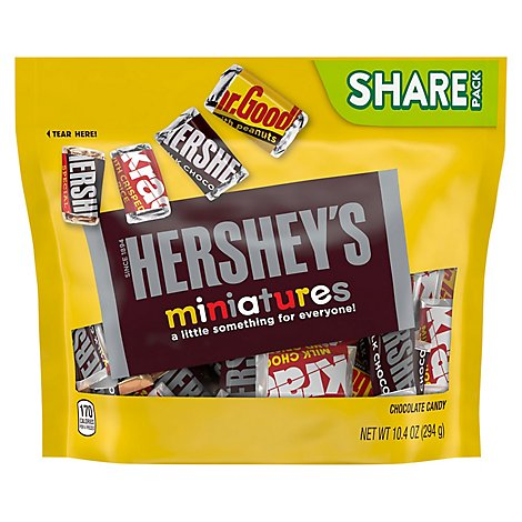 HERSHEYS Miniatures Chocolate Candy Share Pack - 10.4 Oz