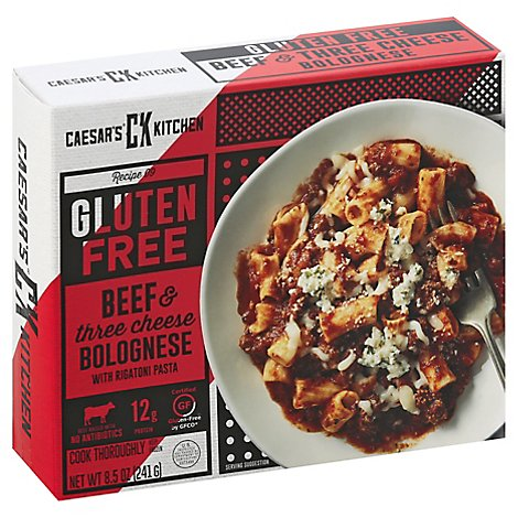 Caesars Kitchen Gourmet Gluten Free Rigatoni & Meat Sauce 3 Cheese Herb - 8.5 Oz