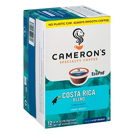 Camerons Costa Rica Blend Single Serve Coffee - 12 Count