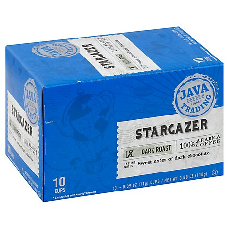 Java Trading 10ct Stargazer Coffee Single Serve Cups Dark Roast - 10 Count