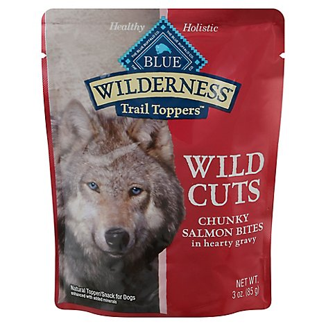 Blue Wilderness Wild Cuts Dog Trail Toppers Chunky Salmon Bites In Hearty G - 3 Oz