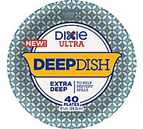 Dixie Ultra Plates 9 9/16in 40ct Deep Dish - 40 Count