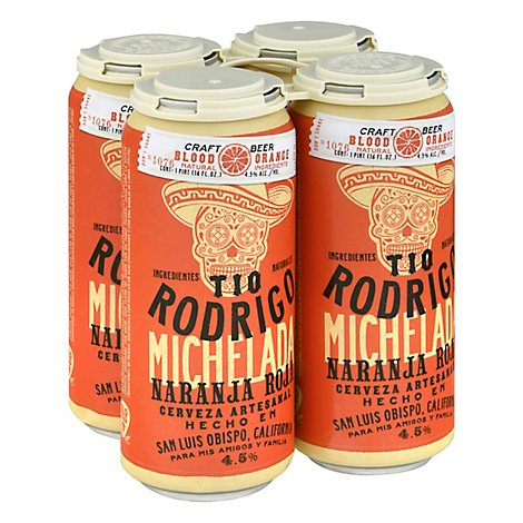 Tio Rodrigo Blood Orange Michelada In Cans - 4-16 Fl. Oz.