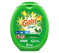 Gain flings! Laundry Detergent Liquid Pacs HE Compatible Original Scent - 96 Count