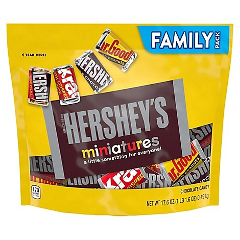 HERSHEYS Candy Chocolate Miniatures Family Pack - 17.6 Oz