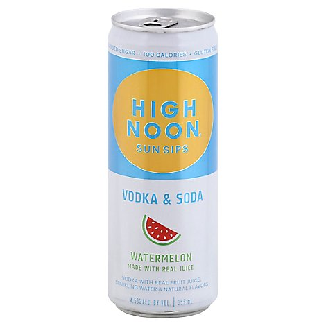 High Noon Watermelon Flavored Vodka & Soda Can 4.5% Abv - 355 Ml