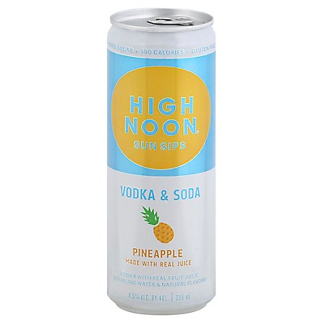 High Noon Pineapple Flavored Vodka & Soda Can 4.5% Abv - 355 Ml