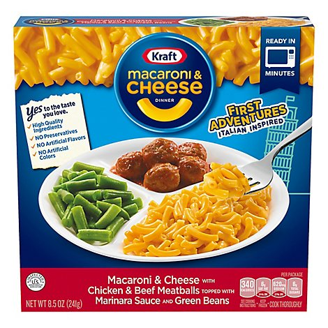 Kraft Mac N Cheese With Marinara Meatballs - 8.5 Oz
