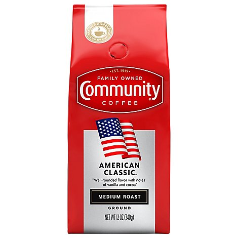Community Coffee Ground Medium Roast American Classic - 12 Oz