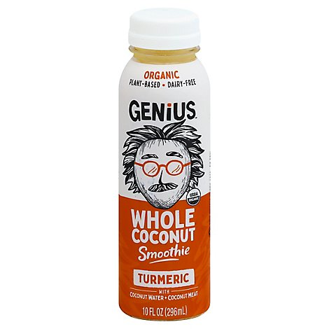 Genius Whole Coconut Smoothie Turmeric - 10 Fl. Oz.