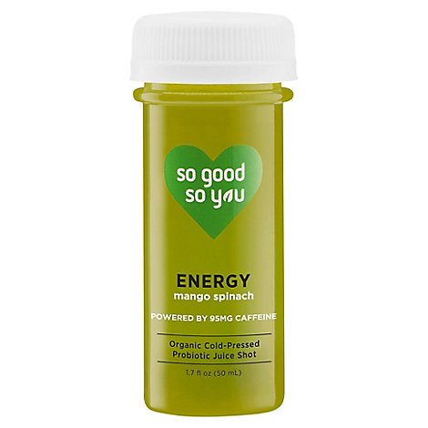 So Good So You Organic Cold Pressed Juice Probiotic Wellness Shot Energy - 1.7 Fl. Oz.