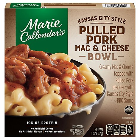Marie Callender Kansas City Style Pulled Pork Mac And Cheese Bowl - 11 Oz