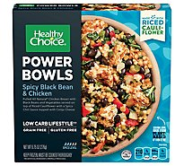 Healthy Choice Power Bowls Spicy Black Bean & Chicken With Riced Cauliflower - 9.75 Oz