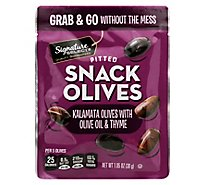Signature Select Olives Snack Pitted Kalamata Thyme - 1.05 Oz