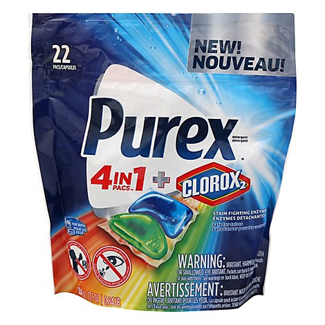 Purex 4-In-1 Plus Clorox2 Original Fresh Duo - 22 Count