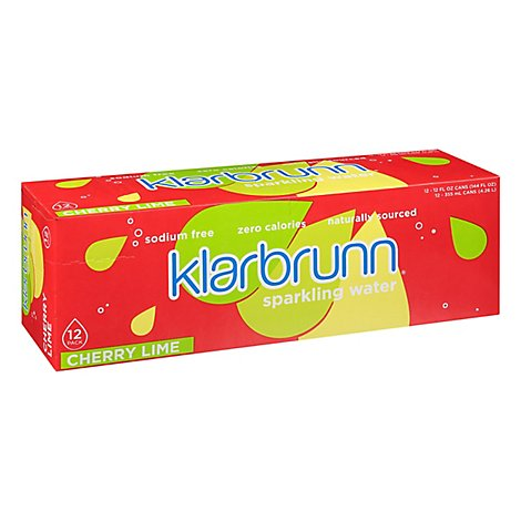 Klarbrunn Cherry Lime Sparkling Water - 12-12 Fl. Oz.