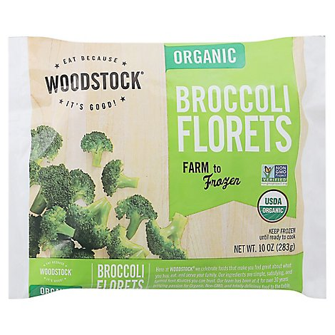 Woodstock Frzn Broccoli Floret Org - 10 Oz