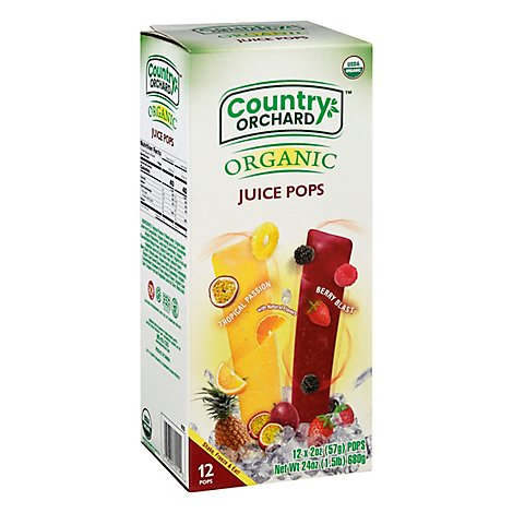 Country O Pops Juice Tropical Org - 12 Each