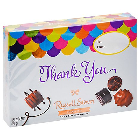 Russell Stover Chocolates Assorted Thank You Box - 4.6 Oz