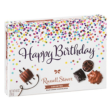 Russell Stover Chocolates Assorted Happy Birthday Box - 4.6 Oz