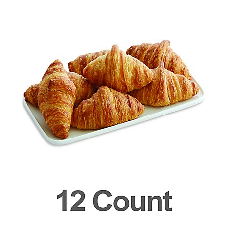 Fresh BakedNatural Butter Croissants - 12 Count