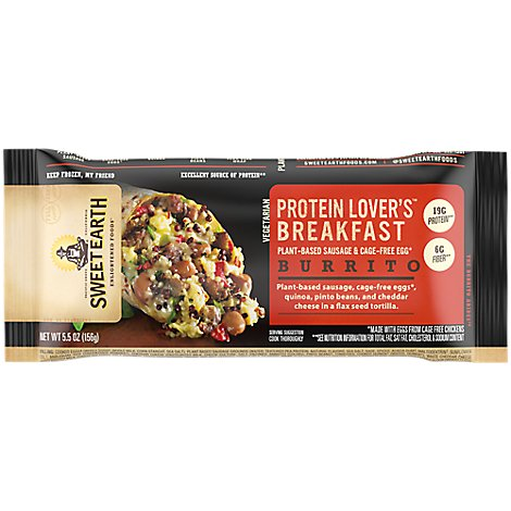 Sweet Earth Protein Lovers Burrito - 6 Oz