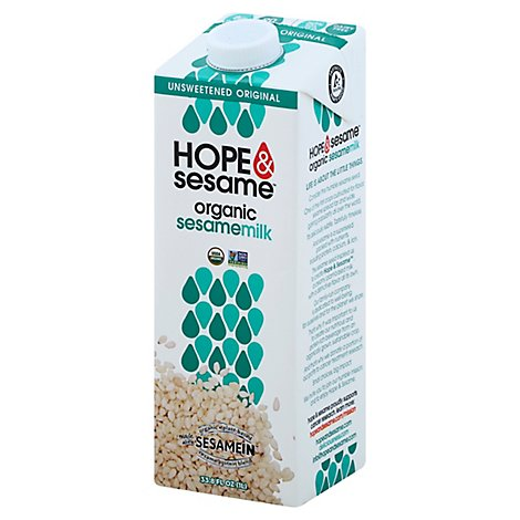 Hope And  Milk Ssame Unsweet Org - 33.8 Fl. Oz.