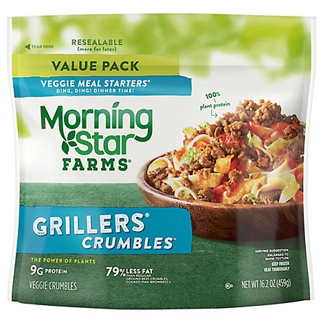 MorningStar Farms Veggie Meal Starters Crumbles Grillers Original Value Pack - 16.2 Oz