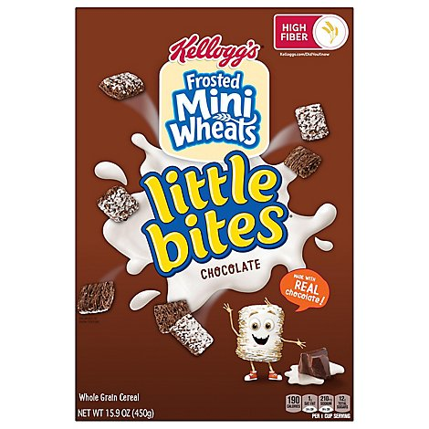 Frosted Mini-Wheats Little Bites Breakfast Cereal Chocolate Family Pack - 15.9 Oz