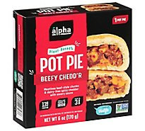 Alpha Foods Pot Pie Handheld Beefy Cheddar - 6 Oz