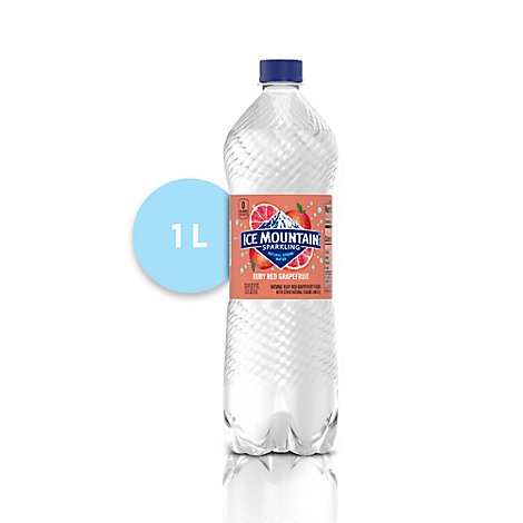 Ice Mountain 100% Natural Spring Water Sparkling Ruby Red Grapefruit - 33.8 Fl. Oz.