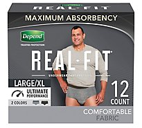 Depend Underwear Real Fit Max Abs L/Xl For Men 12 - 12 Count