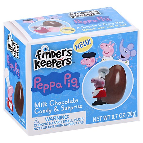 Finders Keepers Milk Chocolate Candy & Toy Peppa Pig - 0.7 Oz