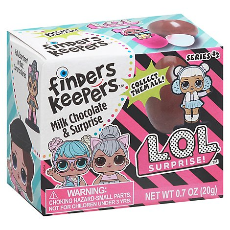 Finders Keepers Milk Chocolate Candy & Toy L.O.L. Surprise - 0.7 Oz