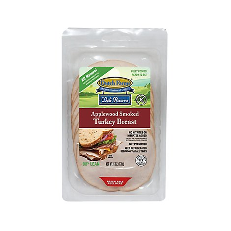 Deli Reserve Applewood Smoked Turkey Breast - 6 Oz