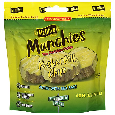 Mt Olive Kosher Dill Chips - 4.8 Fl. Oz.