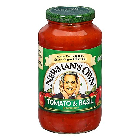 Newmans Own 24 Ounce Tomato & Basil Pasta Sauce - 24 Oz