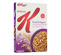 Kelloggs Special K Breakfast Cereal Fruit and Yogurt Low Fat Box - 13oz