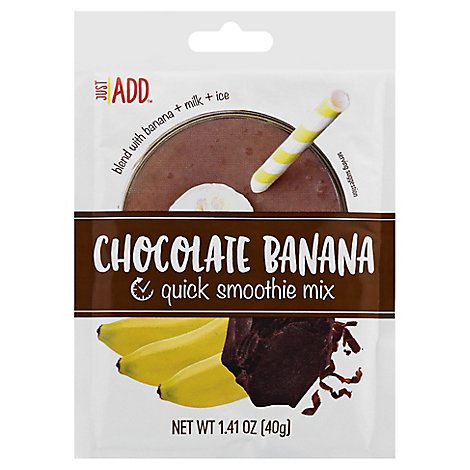 Just Add Smoothie Mix Banana Chocolate - 1.41 Oz